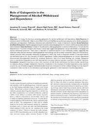 Dsm 5 Desk Reference Download by The Role Of Gabapentin In The Management Of Alcohol Withdrawal And