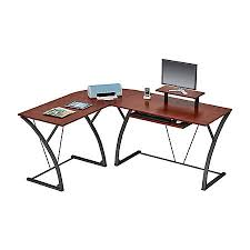 z line designs khloe l shaped glass computer desk espresso by