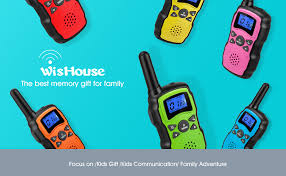 wishouse rechargeable walkie talkies for with charger 3x3000mah battery family 2 way radio cruise ship outdoor cing hiking toys