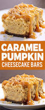 Gingersnap Pumpkin Pie Cheesecake by Caramel Pumpkin Cheesecake Bars Sugar Apron