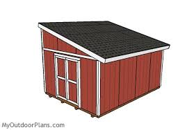 12x16 lean to shed plans myoutdoorplans free woodworking plans