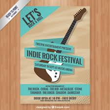 Indie Rock Festival Poster Free Vector