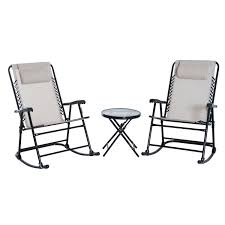 Outsunny Outdoor Folding Rocking Chair Patio Table Seating Set - Cream White Folding Rocking Chair Foldable Rocker Outdoor Patio Fniture Beige Outsunny Mesh Set Grey Details About 2pc Garden Chaise Lounge Livingroom Club Mainstays Chairs Of Zero Gravity Pillow Lawn Beach Of 2 Cream Halu Patioin Gardan Buy Chairlounge Outdoorfolding Recling 3pcs Table Bistro Sets Padded Fabric Giantex Wood Single Porch Indoor Orbital With
