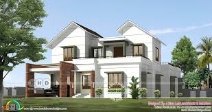 100 Contemporary Home Designs Semi Contemporary Style Villa By Blue Leaf Kerala Home