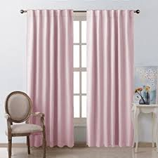 Noise Cancelling Curtains Amazon by Amazon Com Blackout Curtain Panels For Girls Room Baby Pink 52w