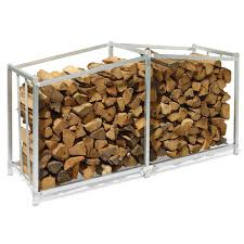 outdoor foldaway firewood storage rack design with stainless steel