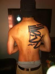 Cool Graffiti Tattoo