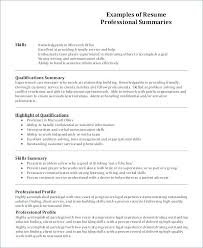 Profile Resume Examples Management