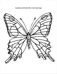Zebra Butterfly Coloring Page Refrence Swallowtail Pages New Drawing At