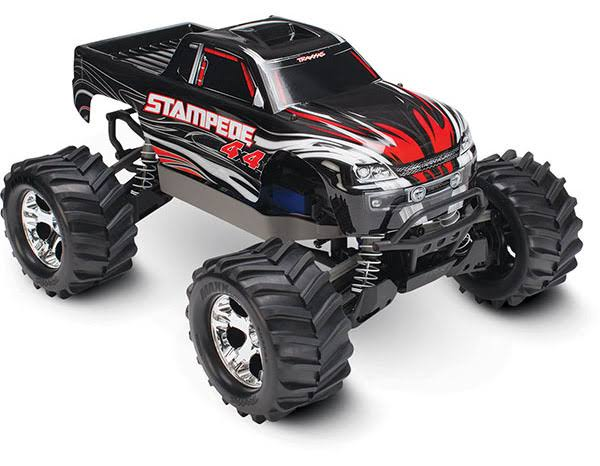 Traxxas TRA67054 Stampede 4x4 4wd Monster Truck - 1/10 Scale, With TQ 2.4GHZ Radio, Black