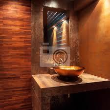 fototapete teures bad mit goldenem waschbecken