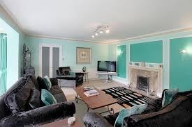 turquoise black and white living room modern house