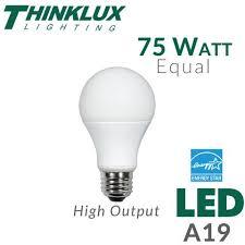led light bulb 75 watt equal dimmable earthled