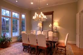 A Formal Dining Room With Bay Window Traditional