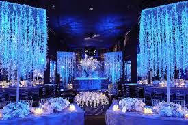 Royal Blue Wedding Reception Decorations Theme