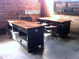 Vintage Industrial Kitchen Island Antique Cart Utility Table Cabinets 595000 Via