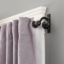 Eclipse Room Darkening Curtain Rod by Black Curtain Rods U0026 Sets Curtain Rods U0026 Hardware The Home Depot