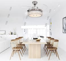 LED Stealth Ceiling Fan Light Simple Folding Bedroom Modern Living Room Dining Fans 42inch In From Lights