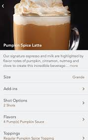 Iced Pumpkin Spice Latte Nutrition Facts by Pre Order A Pumpkin Spice Latte At Starbucks Ask Dave Taylor