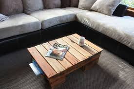 Living Room Interior Small Diy Pallet Recycled Storage Coffee Table With Black Gray