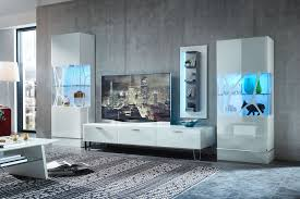 leonardo living wohnwand ev13 cube 4 teilig weiß möbel