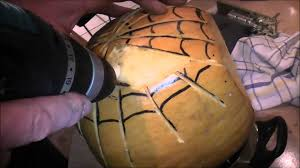 Drilled Pumpkin Designs by How To Make A Spider Man Halloween Pumpkin Looks Cool Youtube