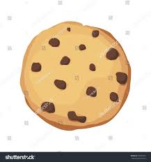 A chocolate chip cookie Choco cookie icon Vector illustration