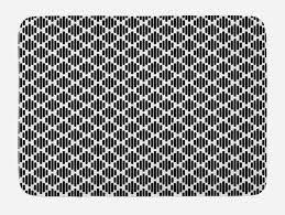 details zu schwarz und weiß badematte modernes boho mosaik