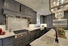 white kitchen with arabesque backsplash tile ideas