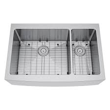 Whitehaus Farm Sink 36 by Exclusive Heritage All In One Farmhouse Stainless Steel 36 In 70