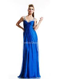 blue spaghetti straps empire waist wholesale prom dress