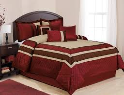 Amazon 7 Piece MYA Red Bed in a Bag forter Sets Queen