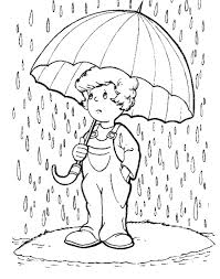 Rain Coloring Pages 01
