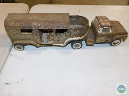 Lot: Nylint Toys Metal Truck & Horse Trailer (heavy Rust)   Proxibid ... Vintage Nylint Pressed Steel Stables Horse Trailer And Truck In Sleich Horses Club Playset With Friesian Farm Toys For Fun A Dealer Valley Ranch Pink Pick Up Amazoncom Tonka Hitchem Ups Pickup Games Toy Company Lone Star Stables Truck Horse Trailer 1866715550 Rescue Breyerhorsescom Breyer Stablemates Gooseneck Walmartcom Loading Mini In Car Drama At The Gmc Toy Trucks Wwwtopsimagescom Old Mechanical And Stock Photo Image Of 1965 Truck Horse Trailer Keep On Truckin Toys