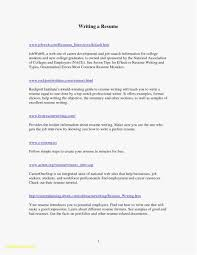 One Page Resume Examples Luxury Best Templates Of