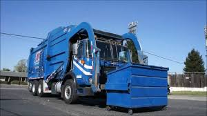 Garbage Truck Front Loader - YouTube