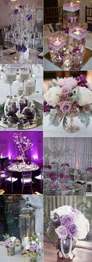 Stunning Wedding Color Ideas In Shades Purple And Silver