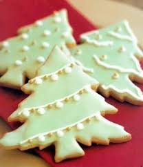 Soft Colours And A Hint Of Gold From Night Core Christmas Tree Cookies
