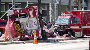 100 Emergency Truck Photos 10 Hurt In Miami Fire And Ambulance Collision