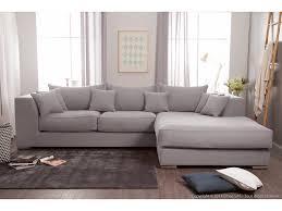 canapé d angle en coton et avec grande méridienne edward gris