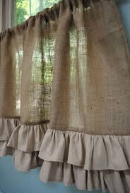 Primitive Curtains For Living Room by Best 25 Burlap Kitchen Curtains Ideas On Pinterest Farmhouse