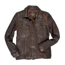 stonewashed leather jean jacket cockpit usa