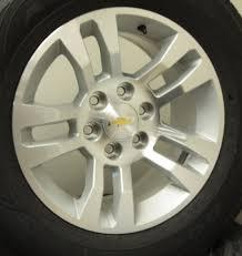Chevy 18 Inch Oem Factory Split Spoke Wheels Goodyear Wrangler Tire Package
