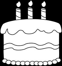 Small Black and White Birthday Cake