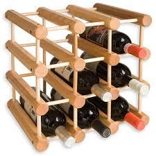 Modular 12 Bottle Wood Wine Rack in Wine Racks