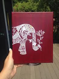 Bohemian Elephant Canvas Diy Paintings