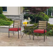 Mainstays Alexandra Square 3 Piece Outdoor Bistro Set Grey with
