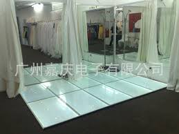 led light glass floor tiles and stage lighting ktv club