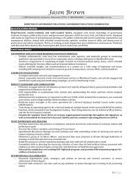 Director Of Government Relations Resume Example