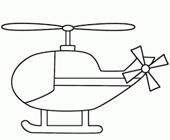 Click To See Printable Version Of Simple Helicopter Coloring Page